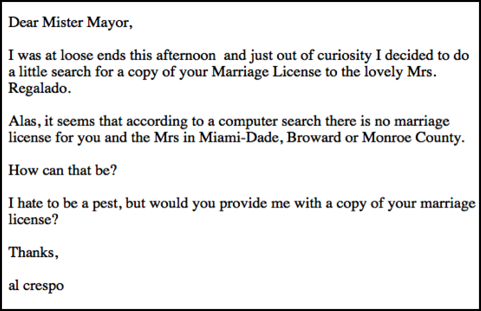 Shortly After I Wrote My Story About Tomas Regalado And His Wife